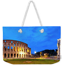 Weekender Tote Bag featuring the photograph Piazza Del Colosseo by Fabrizio Troiani