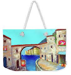 Piazza Del La Artista Weekender Tote Bag by Larry Cirigliano