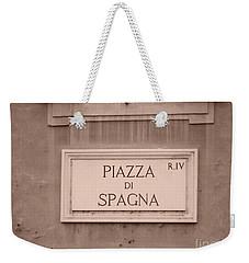 Piazza Di Spagna Weekender Tote Bag