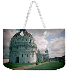 Weekender Tote Bag featuring the photograph Piazza In Piza by Christin Brodie