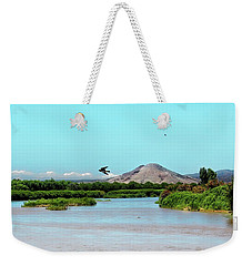 Picacho Peak Prespective Weekender Tote Bag by Barbara Chichester
