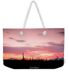 Picacho Sunset Weekender Tote Bag