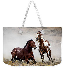 Picasso - Wild Stallion Battle Weekender Tote Bag by Nadja Rider