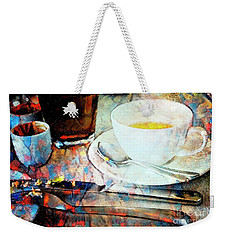 Weekender Tote Bag featuring the photograph Picasso's Coffee by Craig J Satterlee