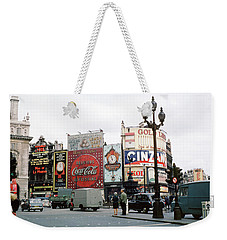 Piccadilly Circus 1950's Weekender Tote Bag by Wernher Krutein