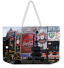 Piccadilly Circus, London, 1940's Weekender Tote Bag by Wernher Krutein