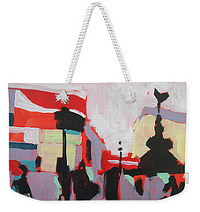 Weekender Tote Bag featuring the painting Piccadilly Circus by Nop Briex