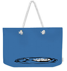 Weekender Tote Bag featuring the digital art Piccolo In Blue by Jazz DaBri