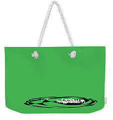 Weekender Tote Bag featuring the digital art Piccolo In Green by Jazz DaBri