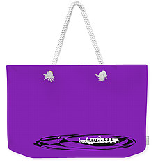 Weekender Tote Bag featuring the digital art Piccolo In Purple by Jazz DaBri