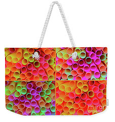 Weekender Tote Bag featuring the photograph Pick A Straw By Kaye Menner by Kaye Menner