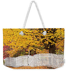 Picket Fence Autumn Weekender Tote Bag