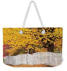Picket Fence Autumn Weekender Tote Bag