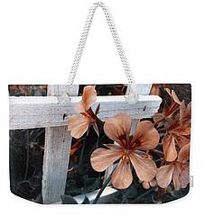 Picket Fence Blooms Weekender Tote Bag