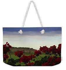 Picket Fence, Flowers And Storms Weekender Tote Bag