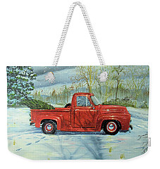 Picking Up The Christmas Tree Weekender Tote Bag