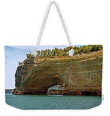Pictured Rocks Arch Weekender Tote Bag by Michael Peychich