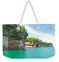 Pictured Rocks Weekender Tote Bag by Michael Peychich