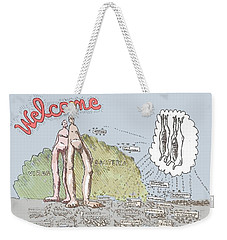 Piece Of Meat Weekender Tote Bag