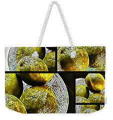 Pieces Of Lime Collage Weekender Tote Bag
