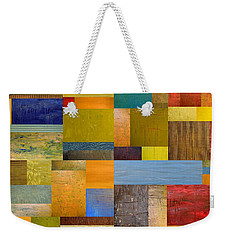 Pieces Project Vll Weekender Tote Bag by Michelle Calkins