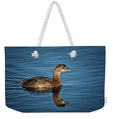 Weekender Tote Bag featuring the photograph Pied Billed Grebe by Randy Hall