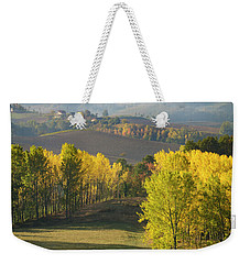 Weekender Tote Bag featuring the photograph Piemonte Morning by Brian Jannsen