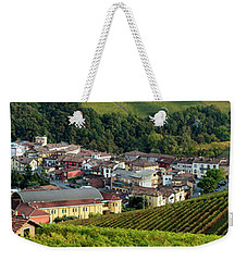 Weekender Tote Bag featuring the photograph Piemonte Panoramic by Brian Jannsen