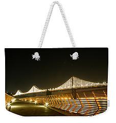 Pier 14 And Bay Bridge Lights Weekender Tote Bag