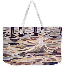 Pier At Granthams Landing Weekender Tote Bag