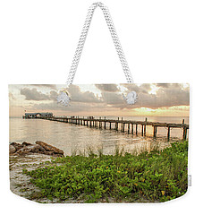 Pier At Sunrise Weekender Tote Bag