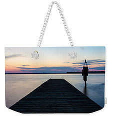 Pier At Sunset 16x20 Weekender Tote Bag
