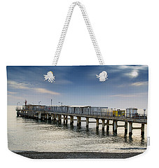 Pier At Sunset Weekender Tote Bag