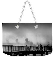 Pier Fishing Q M Weekender Tote Bag