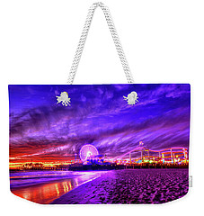 Pier Of Lights Weekender Tote Bag