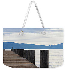 Pier On The Lake Weekender Tote Bag by Ana V Ramirez