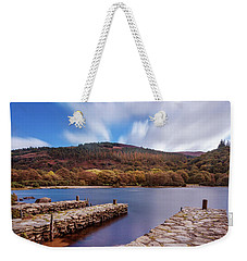 Weekender Tote Bag featuring the photograph Pier On The Upper Lake In Glendalough - Wicklow, Ireland by Barry O Carroll