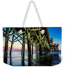 Pier Perspective Weekender Tote Bag by David Smith