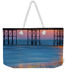 Pier Supports At Sunset I Weekender Tote Bag