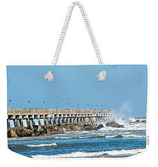 Pier Surf Weekender Tote Bag by Kenneth Albin