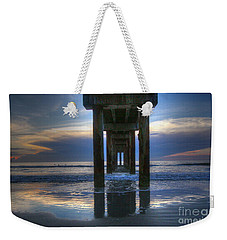 Pier View At Dawn Weekender Tote Bag by Myrna Bradshaw