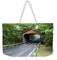 Pierce Stocking Covered Bridge Weekender Tote Bag