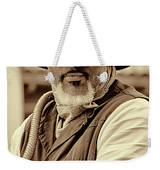 Piercing Eyes Of The Cowboy Weekender Tote Bag