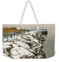 Pierhead Light On Lake Michigan Weekender Tote Bag
