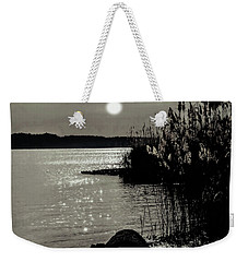 Weekender Tote Bag featuring the photograph Piermont Hudson River View by Roger Bester