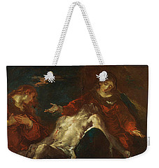 Pieta With Mary Magdalene Weekender Tote Bag by Giuseppe Bazzani