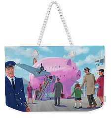 Pig Airline Airport Weekender Tote Bag by Martin Davey
