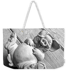 Pig Having A Belly Laugh Because I'm Happy Weekender Tote Bag