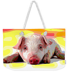 Pig In A Poke Weekender Tote Bag by Charles Shoup