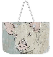 Pig Portrait-farm Animals Weekender Tote Bag
